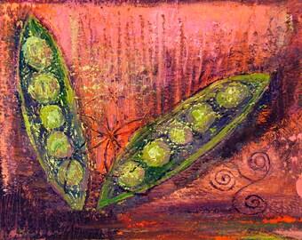 Peas in a Pod - Food Art