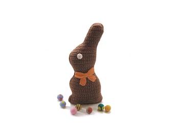 One Large Crochet Chocolate Easter Bunny Chocolate Rabbit
