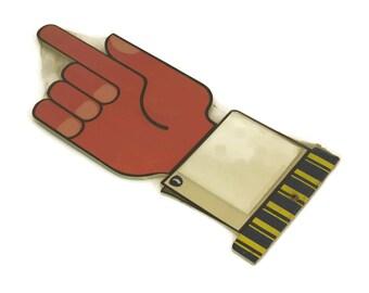 Vintage 1970s Pointing Finger Notepad Holder.