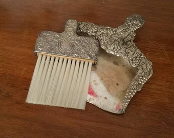 Silver Brush and Dust Pan