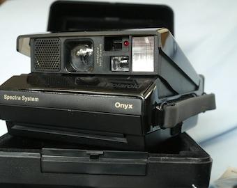 Polaroid Onyx Cased Camera -Transparent Top-Rare-Museum Quality-