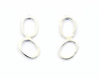 Sterling Silver Stud Earrings, Minimalist Stud Earrings, Everyday Stud Earrings, Everyday Earrings, Silver Every day earrings, Earrings 3054