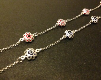 Sterling Silver Evil Eye Bracelet
