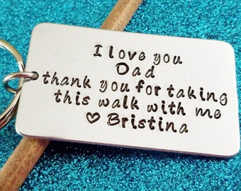 Father of the Bride Gift - Father Dad Keychain -Custom Keychain - Gift for Father of the Bride - Gift for Brides Dad - Personalized Gift