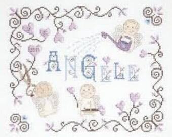 DMC BK1033 | Little Angel Name Sampler Counted Cross Stitch Kit