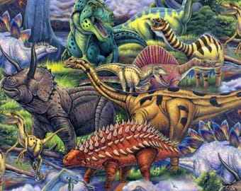 "Fleece Fabric Dinosaurs Fleece Fabric Anti Pilling Polyester 60"" Wide Style 3168"
