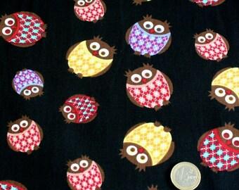 Coupon fabric 100% cotton 45 cm x 45 cm 3 owls owls