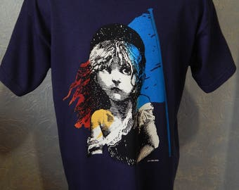 Les Miserables T- Shirt Broadway Musical Movie 1986 Drama Play