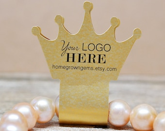 Crown Shape Fold Over Hanging Jewelry Display Cards Necklaces Bracelets Earrings | BT01MB