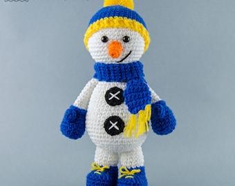 Snowman Amigurumi - PDF Crochet Pattern - Instant Download - Amigurumi crochet Cuddy Stuff Plush