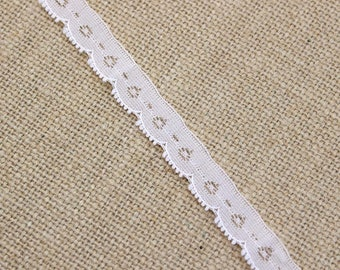 2.5 Yards of Vintage Lace in Pale Beige 0.5 Inches Wide
