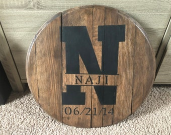 Personalized Bourbon Barrel Head
