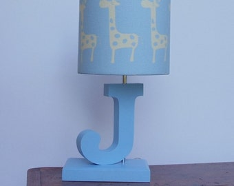 Letter Lamp Base   Handmade Personalized Table Or Desk Lamp Base   Perfect  For A Nursery