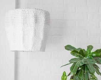 Knitted White lighting / Modern chanderlier / Big White lighting /  Pendant Lighting / Сeiling light / Rustic lighting