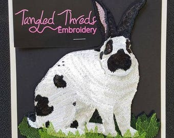 """Rabbit, Hare, Bunny Embroidered Patch 5.9"""" x 6.2"""""""