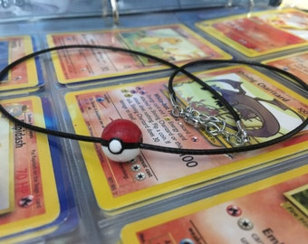Pokeball Bead Necklace