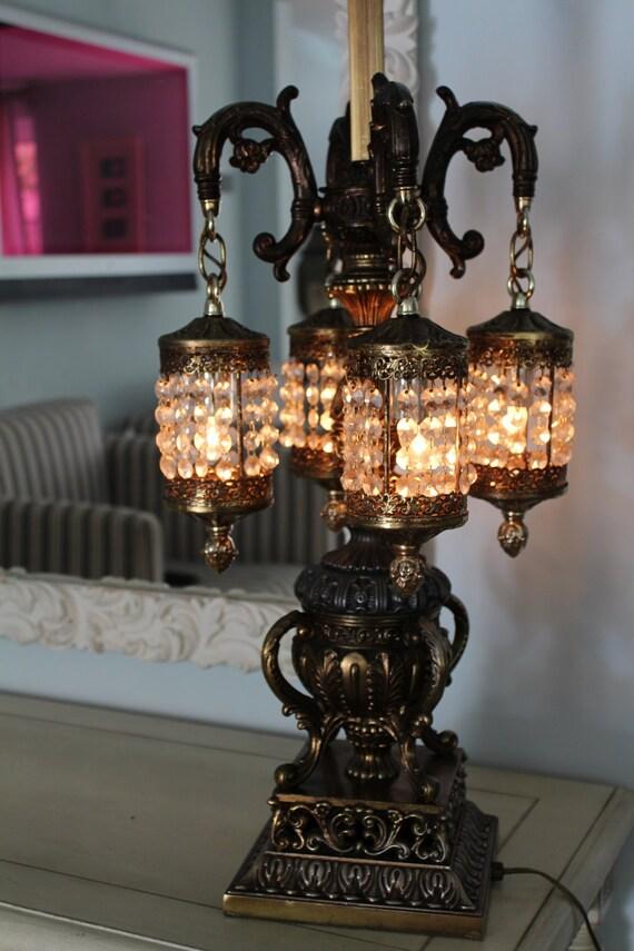 Midcentury Hollywood Regency Gilt ROCOCO Lamp