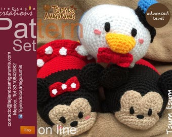 Set Pattern Tsum Tsum Mickey Donald & Minie