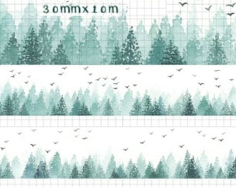 1 Roll of Limited Edition Washi  Tape: Misty Forrest