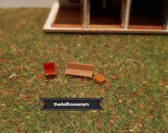 Tiny miniature scale 1: 144 furniture for our micro houses dolls or scenes