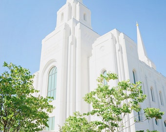 Brigham City Temple - Digital Download - Cheerful and Bright Fine Art Photography