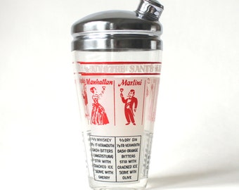 Vintage Cocktail Shaker with Lid Salute to your Health!
