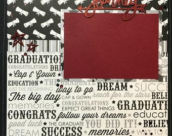 Graduation Pre-Made Scrapbook Page
