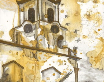 """Giclée print of original drawing by Amber Gorsline - """"Cathedral"""""""
