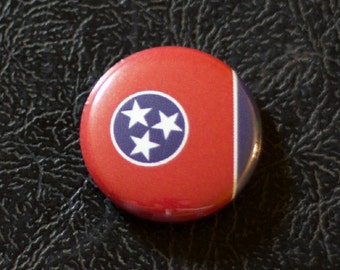 """1"""" Tennessee flag button, state, pin, badge, pinback"""