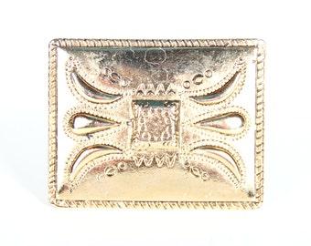Italian Belt Buckle / Gold / Brass Belt Buckle Men / Mens Belt Buckle / Unique Belt Buckle / Old Belt Buckles / Italy Belt Buckle