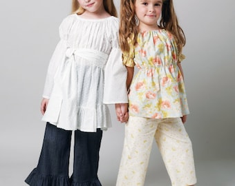 McCall's Sewing Pattern M6530 Children's/Girls' Top, Tunic, Belt, Pants and Kerchief