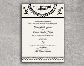 New Orleans Wedding Invitation or Save the Date