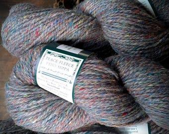 Peace Fleece wool yarn - Mesa Marble, gray knitting yarn, grey yarn, knitting supplies, yarn shop