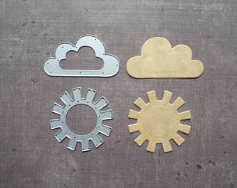 Die cut Sizzix weather Sun cloud