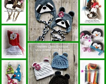 ANY 4 PDF Crochet Patterns Sale - Great tutorials lots of pictures by AngelsChest