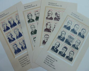 Unused Postage Stamps - Vintage 22 Cent American President Postage Stamps