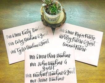 Hand Lettered Wedding Invitations