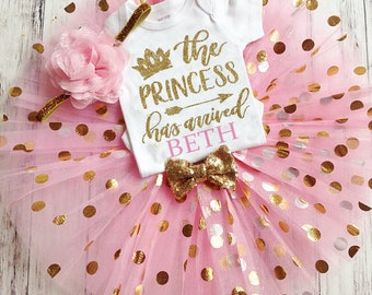 Baby Shower Gift Girl, Baby Girl Coming Home Outfit, Take Home Outfit, Daddy's Princess Has Arrived, Newborn Tutu Set, Baby Shower Gift