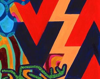 Mola Abstract Art Print