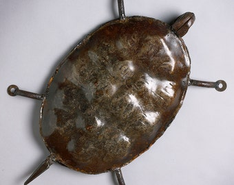 Metal Wall Art Turtle Sculpture