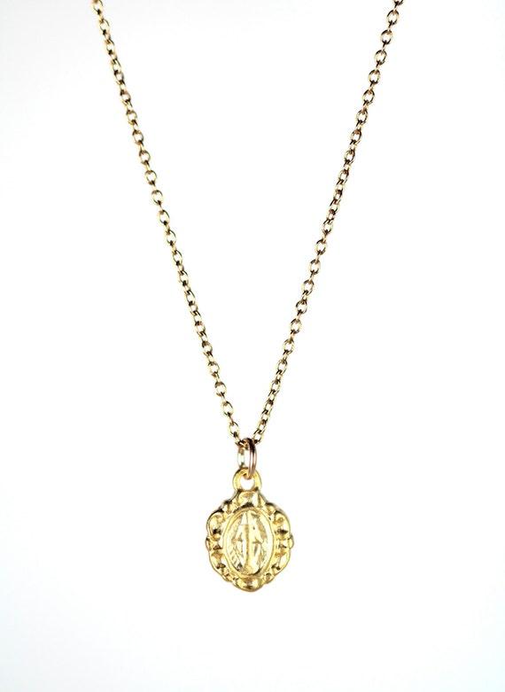 Virgin mary necklace religious necklace catholic necklace