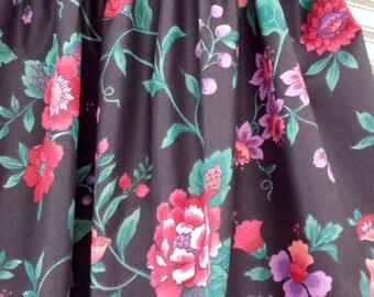 Black Floral Valance