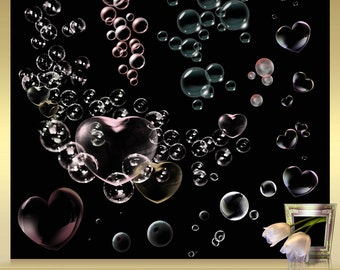 8 Photoshop Overlays - Soap Bubbles Overlays - Foto Overlays Photography-Overlays Bubble Overlay Layers Blowing Bubbles Clipart