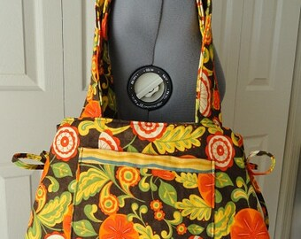 Autumn handbag,Autumn print, Fall purse, shoulder bag, handmade, fabric