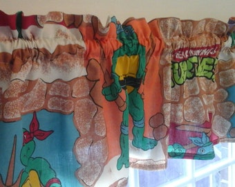 Teenage Mutant Ninja Turtles window valance Linens