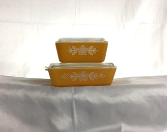 Butterfly Gold Vintage Pyrex Fridgies - 0502/0503