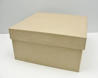 """Square paper mache box 10"""""""