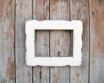 Frame shabby chic wood picture frame distressed style hand painted homme decor photo frame
