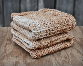 Crochet washcloth, knit wash cloth, knitted bath cloth, cotton wash cloth, masculine washcloth, crochet washcloths, gift for him, set of two