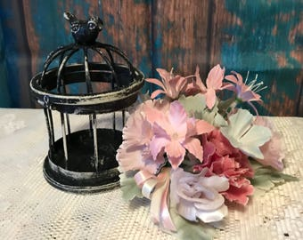 Distressed Gothic Shabby Chic Metal Birdcage